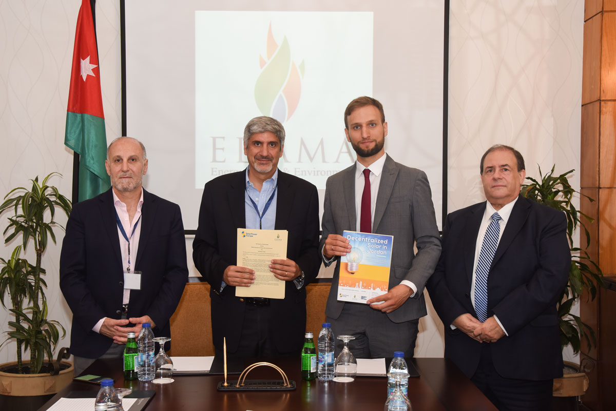 signing an MOU with Solar Power Europe
